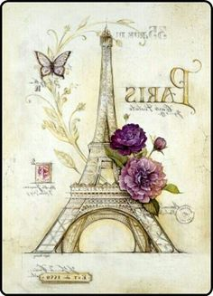 Ideas for wallpaper u. Wallpaper for the room and wall design. Decoupage Vintage, Diy Decoupage Clock, Images Vintage, Vintage Pictures, Deco Paris, Foto Transfer, Transfer Printing, Paris Images, In Vino Veritas