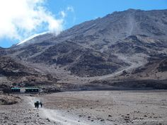 Subiendo al Kilimanjaro, vistas desde Kibo Hut, Ruta Marangu, Tanzania