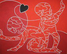"""andrea mattiello """"i dannati dell'amore""""  acrilico cm 100x80; 2010 #andreamattiello #mattiello #arte #art #contemporaryart #italianartist #artista #artistaemergente #acrilico #tela #tecnicamista #acrylic #canvas"""