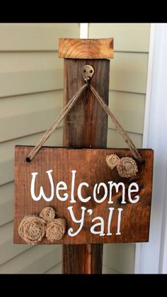 Cute welcome sign