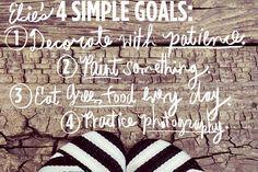 Elsie's 4 Simple Goals (before 2013)