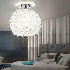 Luxus Pendel Lampe Decken Wohnzimmer Flur Hänge Leuchte schwarz rund 1-flg E27