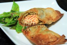 Terapia do Tacho: Trouxas de salmão com pesto de rúcula (Salmon bundles with arugula pesto)