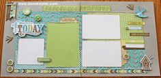 Two Page Scrapbook Layout Spring Friends Skylark Cricut CTMH #cricut #CTMH #scraptabulousdesigns