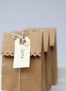 Simples riqueza: Sacolinhas de papel kraft