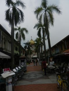 Bussorah street has a nice majestic and welcoming view of the Sultan Mosque