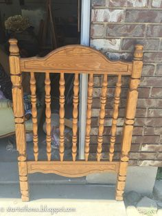 I posted this tutorial over at Lou Lou Girls a few months ago but I wanted to share it here too!  I am always looking for something to repurpose.  I have to admit I love to tear things apart and turn them into something else.  When I bought this crib I didn't have any plans in mind, but it is solid wood, I loved the pretty spindles and the price was right!  I brought it home and decided to turn it into a bench!  These bench's are pretty easy to make as long as you have the right power tools…
