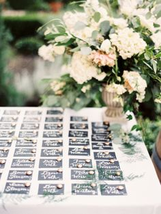 wedding planning, styling + floral design by lovely little details  photos by jessica burke place card calligraphy steele my heart