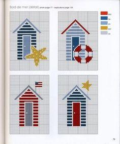 ru / Фото # 69 - * Marabout - Kreuzstich am Meer - Ka - - Cross Stitch Sea, Cross Stitch House, Cross Stitch Charts, Cross Stitch Designs, Cross Stitch Patterns, Cross Stitching, Cross Stitch Embroidery, Embroidery Patterns, Needlepoint