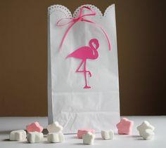 Flamingo Treat Bags, Flamingo Party Decoration, Hawaiian Party, Luau Party Decoration, Tropical Party, Flamingo Birthday Party