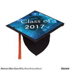 #AbstractBlue #ClassOf #GraduationCapTopper by #MoonDreamsDesigns #Graduating #Graduate