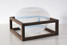 studio thier-vandaalen create glass blown cabinets for precious objects #milandesignweek