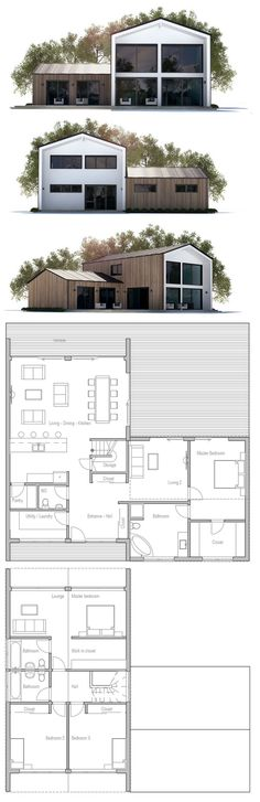 Container House - plan de petite maison Plus - Who Else Wants Simple Step-By-Step Plans To Design And Build A Container Home From Scratch? Four Bedroom House Plans, Modern House Plans, Small House Plans, House Floor Plans, Building A Container Home, Container House Plans, Container Homes, Plans Architecture, Architecture Design