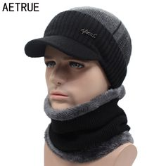 AETRUE Winter Hats Skullies Beanies Hat Winter Beanies For Men Women Wool Scarf Caps Balaclava Mask Gorras Bonnet Knitted Hat   Price: 8.17 USD