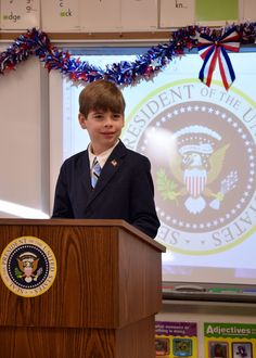 "2nd Grade President's Day | 2016 | Our second-graders celebrated President's Day by reading excerpts from presidential speeches and even dressing the part. The ""Secret Service"" was even in morning carline to greet each presidential ""motorcade."""