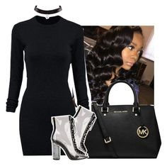 """""""slayy ✨.✨.✨"""" by jchristina ❤ liked on Polyvore featuring MICHAEL Michael Kors and WithChic"""