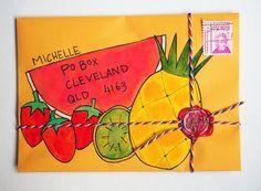 Tropical fruit salad snail mail