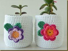 Crochet jar jackets
