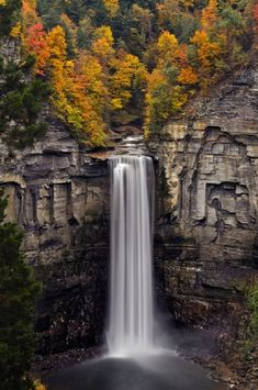 Taughannock Falls just outside of Ithaca, New York