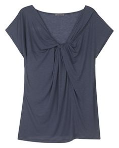 #LYOCELL KNOT FRONT TEE  in Dark Teal from Jigsaw  T-Shirts   www.2dayslook.com   #T-Shirts  #nice #2dayslook #top