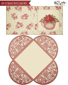 glenda's World : Free  Cup of Roses Note Card & Envelope