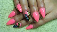 Pink stiletto nails by Valkira - Nail Art Gallery nailartgallery.nailsmag.com by Nails Magazine www.nailsmag.com #nailart