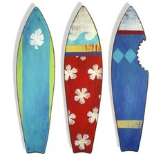 Handpainted surfboards?..been thinking about an ocean/surf themed bedroom for Aidan's new digs!