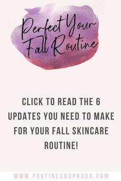 Are you looking to update your skincare routine for fall? Check out the post to read all about the changes you need to make for fresh glowing skin this fall! Care Skin Condition and Treatment Oil Makeup Skin Care Routine For 20s, Skin Routine, Skincare Routine, Skin Care Regimen, Skin Care Tips, Healthy Skin Care, Healthy Beauty, Happy Skin, Prevent Wrinkles