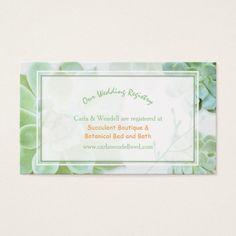 Lush Garden Succulents Wedding Registry Business Card Cards Lipsense