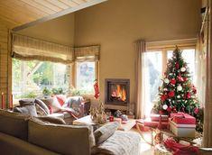 Los mejores 100 árboles de Navidad Christmas Tree Wreath, Christmas Time, Christmas Crafts, Christmas Decorations, Living Pequeños, Holidays And Events, Valance Curtains, Home Decor, Decor Ideas