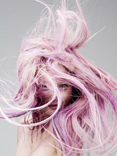 audrey kitching, pink hair, bubblegum pink hair, baby pink hair, purple streaks. You can never have too much pink hair.