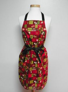 Woodland Animals Apron Christmas Apron by FancyThatApronsMore, $19.95
