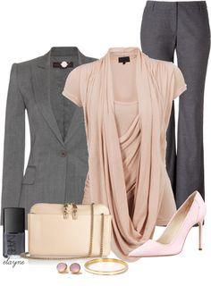 """Business Blush"" by elayne-forgie on Polyvore"