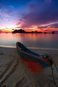 Early morning in Maiga Island, Sabah, Borneo, Malaysia