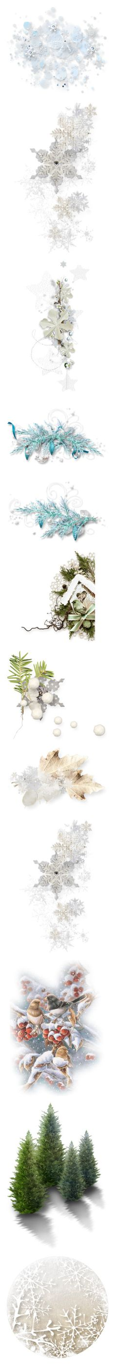 """""""Winter backgrounds"""" by ooh-la-la-beadtique ❤ liked on Polyvore featuring effects, fillers, backgrounds, decorations, flowers, embellishments, detail, christmas, winter and filler"""