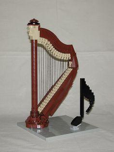 LEGO harp (detail) | Flickr - Photo Sharing!