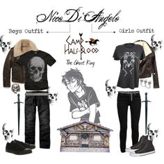 Leo Valdez boy/girl outfits - Polyvore | We Heart It <----- know your characters mortal! It's Nico di Angelo of course
