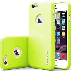 "Black Friday Deal iPhone 6 Case, Caseology [Drop Protection] Apple iPhone 6 (4.7"" inch) Case [Lime Green] Slim Fit Skin Cover [Shock Absorbent] TPU Bumper iPhone 6 Case [Made in Korea] (for Apple iPhone 6 Verizon, AT"