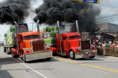 Rodéo du Camion...would LOVE to go to these truck drags! Can almost smell the diesel and see the black smoke rollin'...