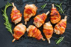 Omlós csirkecombok baconbe csavarva, tepsiben sütve - Egyszerűen fenséges