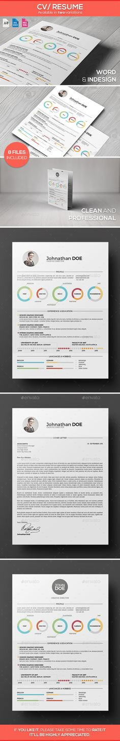 Dark Profession - Resume Glyph icon - single page resume template