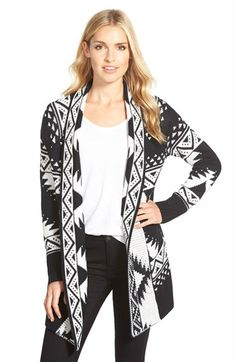 Caslon®+Open+Front+Patterned+Cardigan+(Regular+&+Petite)+available+at+#Nordstrom