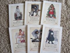 Childhood reads: American girl books- My favorites were Molly followed by Samantha.