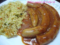 Sauce Pour Porc, Pork Recipes, Cooking Recipes, One Pot Dishes, Charcuterie, Esther, Buffet, Sausage, Menu