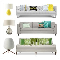 grey couch combos by aimbilal on Polyvore featuring interior, interiors, interior design, home, home decor, interior decorating, Williams-Sonoma, Jonathan Adler, Rituals and Serena & Lily