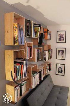 Bibliothèque & Etagère modulable - Caisse de vin