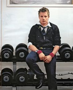 Obviously this is a younger Kimi trying to kick butt with the weights, but he's dressed a bit much...