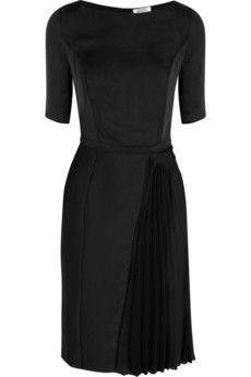 Nina Ricci Ribbed satin-jersey dress | THE OUTNET The pleats are amazing