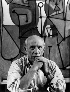 Pablo Picasso considerado uno de los mayores genios de la pintura contemporánea.
