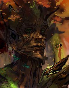i like that tree face
